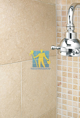 limestone tile shower thala cream Molonglo Valley cleaning