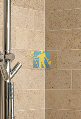 limestone tiles shower moleanos beige Molonglo Valley cleaning