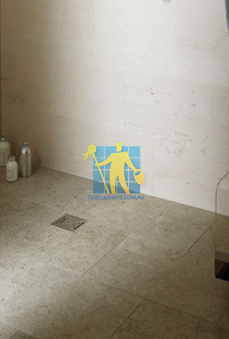 limestone tiles shower moleanos blue Molonglo Valley cleaning