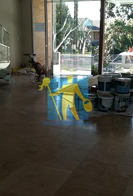extra large porcelain floor tiles after cleaning empty room with polisher Jerrabomberra